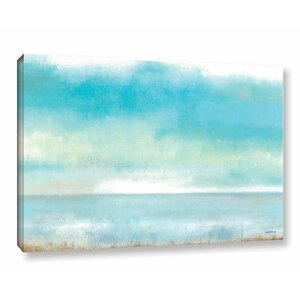 'Calming Seas Painting' Print on Wrapped Canvas by Rosecliff Heights