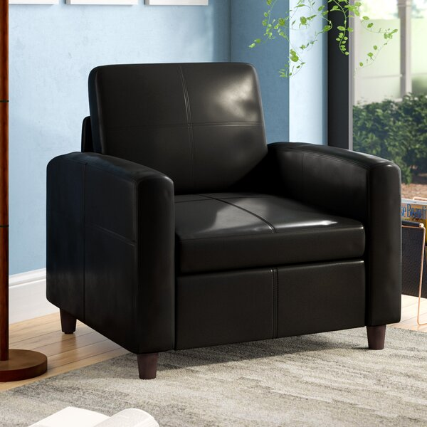 Caswell Leather Lounge Chair by Latitude Run Latitude Run