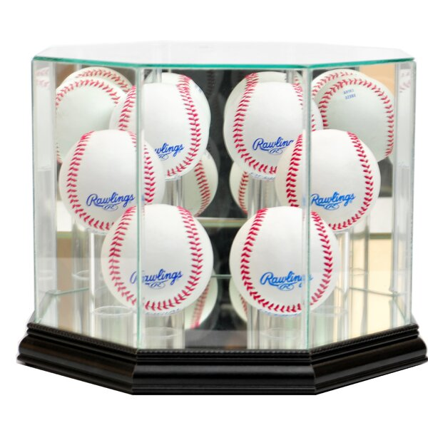 Octagon Six Baseball Display Case by Perfect Cases and Frames