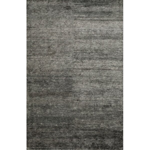 Hively Hand-Knotted Black/Gray Area Rug by Winston Porter