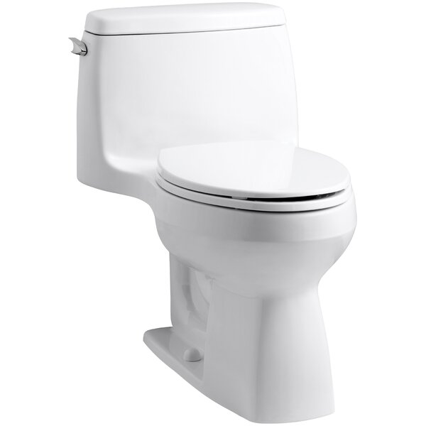 Santa Rosa Comfort Height One-Piece Compact Elongated 1.6 GPF Toilet with Aquapiston Flush Technology and Left-Hand Trip Lever by Kohler