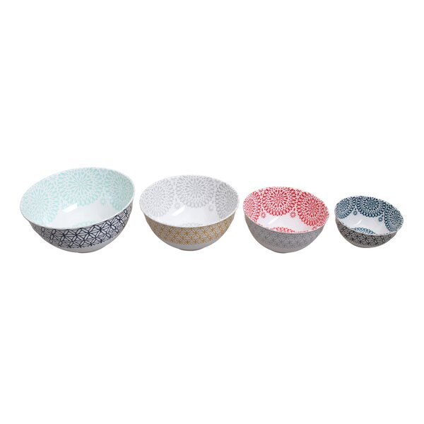Star 4 Piece Melamine Mixing Bowl Set by First Design Global