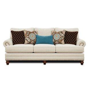 Rosborough White Linen Sofa