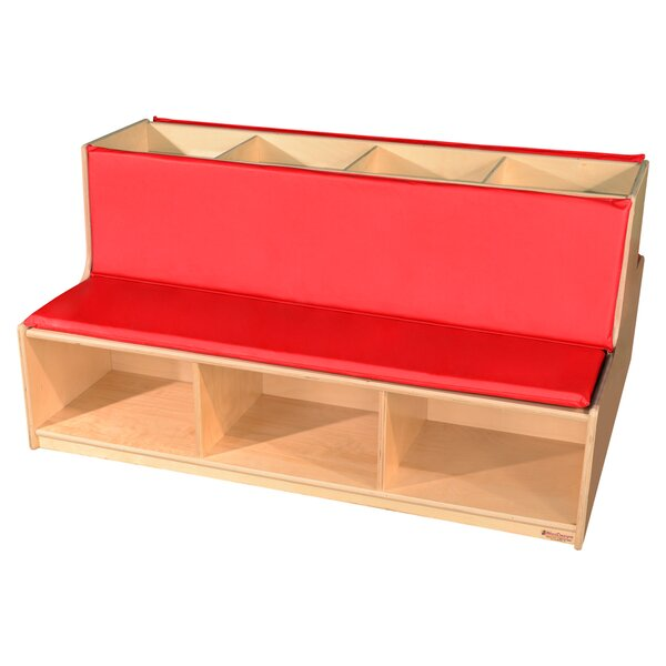 Read-A-Round Wood Storage Bench by Wood Designs