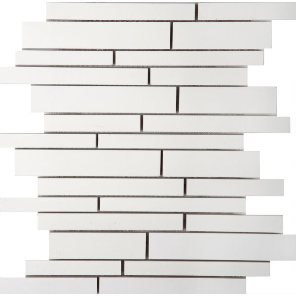Style Random Sized Porcelain Mosaic Tile in Pure White by Emser Tile