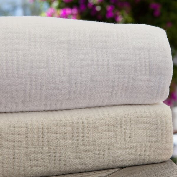 Luxury Rayon from Bamboo Cotton Weave Blanket by Maison International