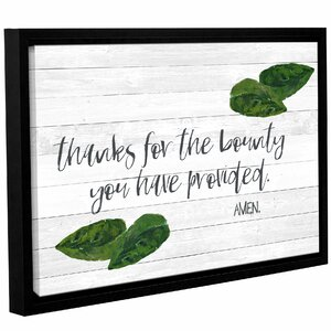'Kitchen Blessings 2' Framed Textual Art on Wrapped Canvas by Laurel Foundry Modern Farmhouse