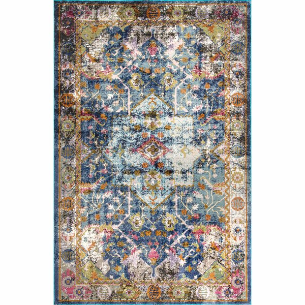 Faustine Blue Area Rug by Bungalow Rose