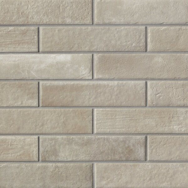 9.75 x 2.38 Porcelain Field Tile in Gray by Grayson Martin