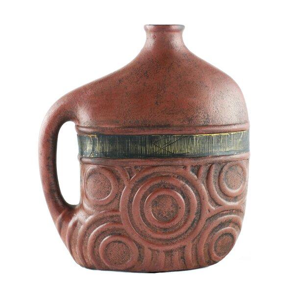 Riccio Rustic Ceramic Vase by World Menagerie