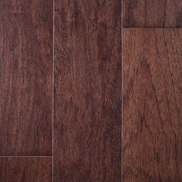Riga 5 Engineered Hickory Hardwood Flooring in Brown by Branton Flooring Collection