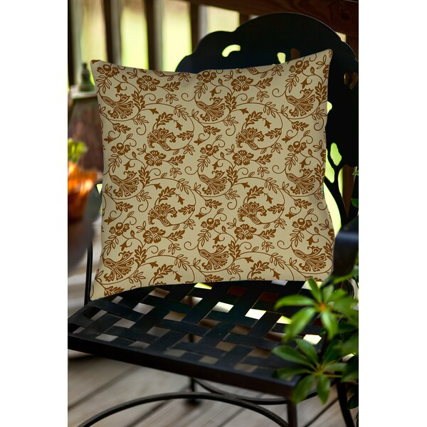 Sultry Blues Indoor/Outdoor Throw Pillow by Manual Woodworkers & Weavers