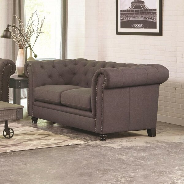 Caryl Transitional Loveseat by Darby Home Co
