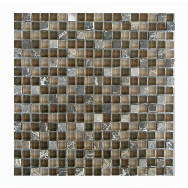 Quartz 0.63 x 0.63 Glass and Stone Mosaic Tile in Di pietra by Abolos