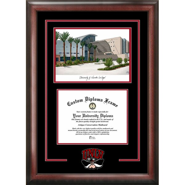 NCAA Spirit Graduate Frame Diploma Picture Frame by Campus Images