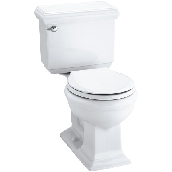 Memoirs Classic Comfort Height Two-Piece Round-Front 1.28 GPF Toilet with Aquapiston Flush Technology and Insuliner Tank Liner by Kohler