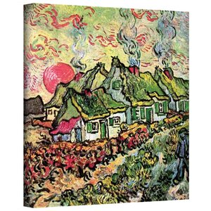 ''Cottages Reminiscent of North'' by Vincent Van Gogh Painting Print on Canvas by ArtWall