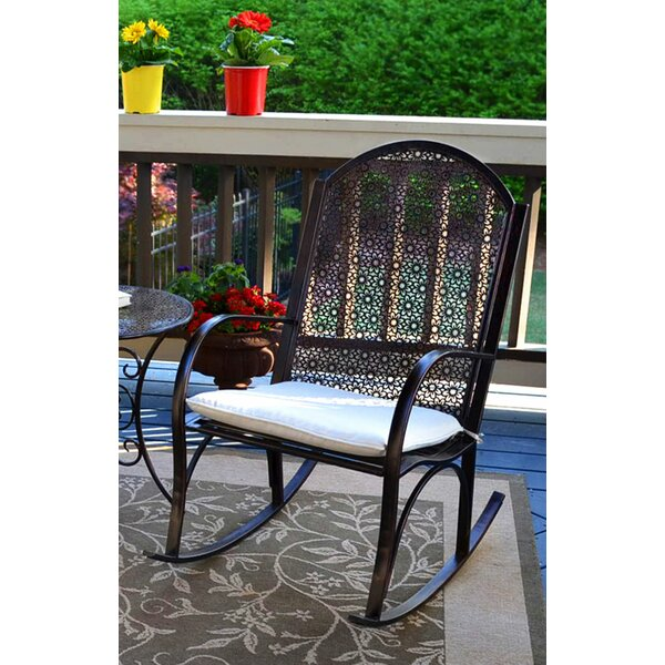 Potomac Rocking Chair with Cushions by Alcott Hill
