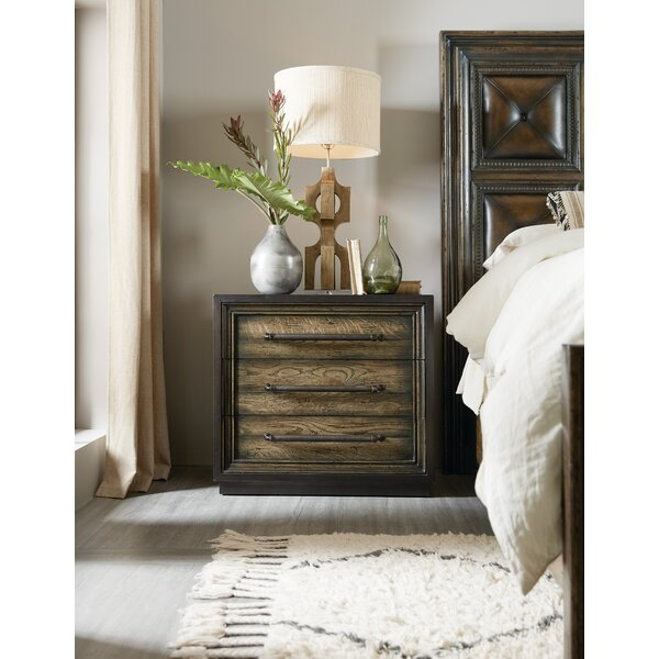 American Life-Crafted Metal Wrapped 3 Drawer Nightstand by Hooker Furniture