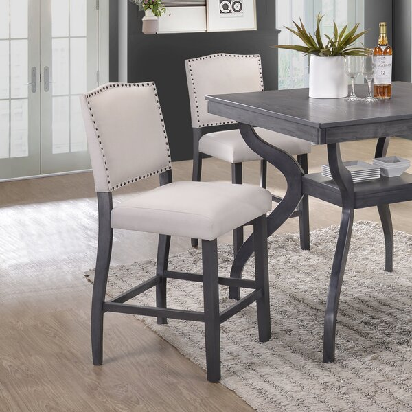 Palmyra Counter Height Upholstered Dining Chair (Set of 2) by Darby Home Co