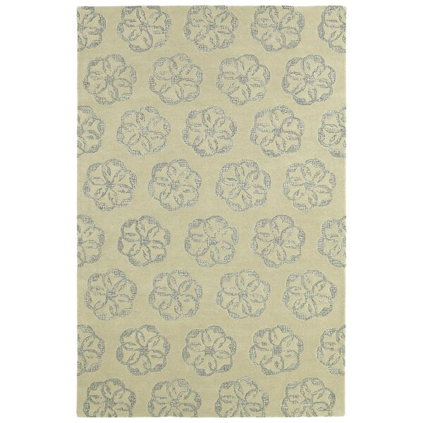 Escamilla Hand-Tufted Wool Ivory Area Rug by Bungalow Rose