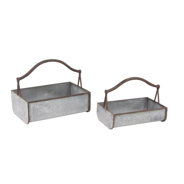 Farmhouse Basket 2-Piece Planter Box Set by Cole & Grey