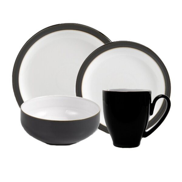 Jet 4 Piece Place Setting, Service for 1 by Denby