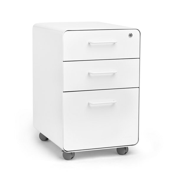 Stow 3-Drawer Vertical Filing Cabinet by Poppin