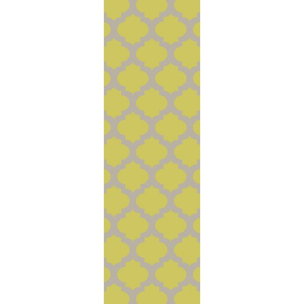 Derby Lime/ Light Gray Indoor/Outdoor Area Rug by Ivy Bronx