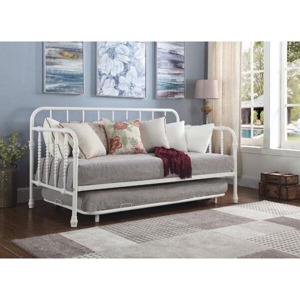 Trever Metal Twin Daybed with Trundle by August Grove