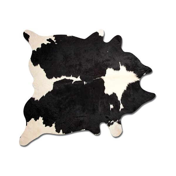 Abhinav Hand Woven Black/White Cowhide Area Rug by 17 Stories