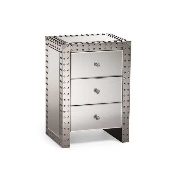 Schiff 3 Drawer Nightstand by House of Hampton
