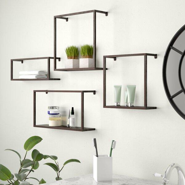 4 Piece Zyther Metal Wall Shelf Set by Holly & Martin