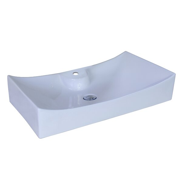Ceramic Rectangular Vessel Bathroom Sink by American Imaginations