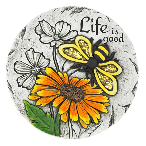 Lynde Life Is Good Sunflower Stepping Stone by Winston Porter