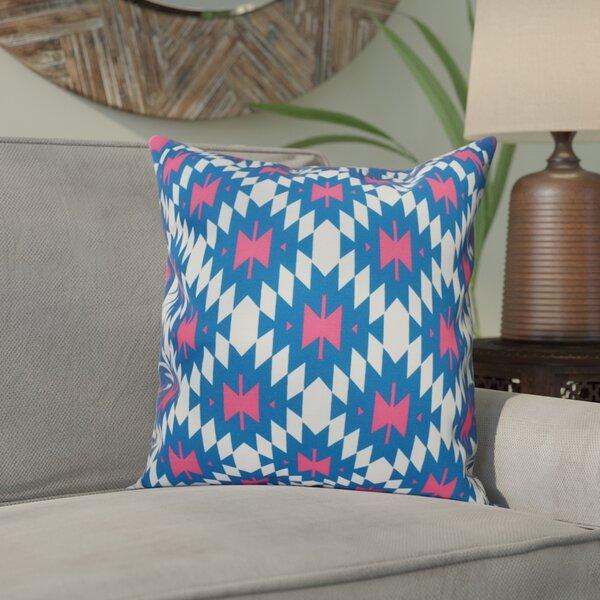 Willa Jodhpur Kilim 2 Geometric Outdoor Throw Pillow by Bungalow Rose