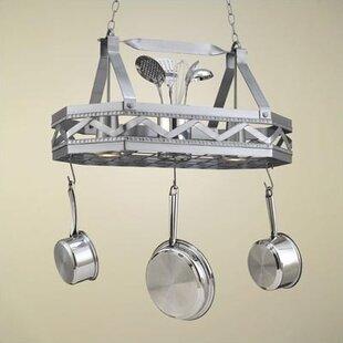 Lighted hanging pot racks youll love wayfair sonoma 8 sided hanging pot rack with 2 lights mozeypictures Gallery