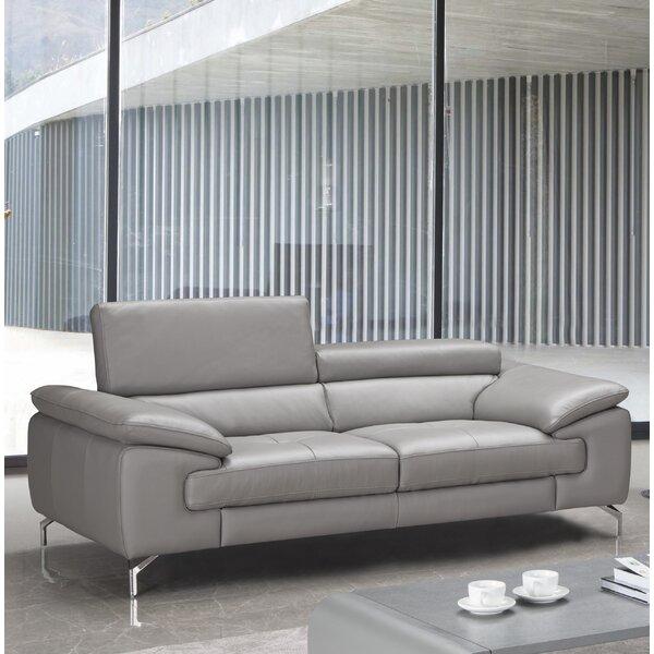 Best 2018 Brand Mayer Leather Sofa by Orren Ellis by Orren Ellis