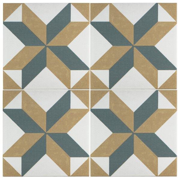 Revive 7.75 x 7.75 Ceramic Field Tile in Blue/Orange by EliteTile