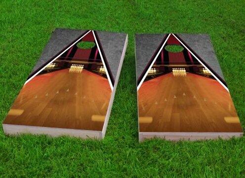 Bowling Lane Cornhole Game (Set of 2) by Custom Cornhole Boards