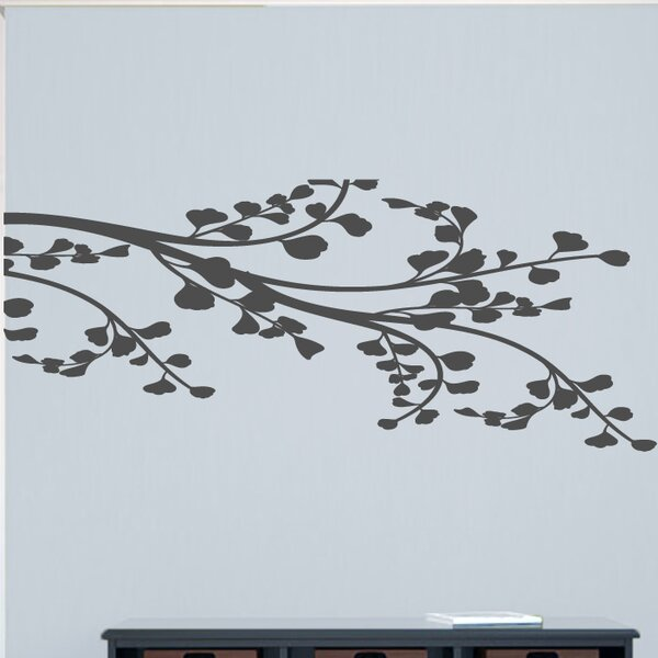 Corner Leafy Branch Wall Decal by Sweetums Wall Decals