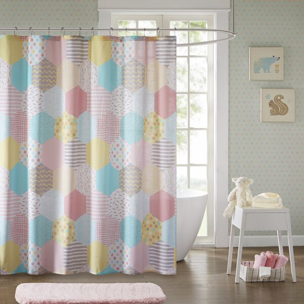 Hayley Cotton Shower Curtain by Viv + Rae