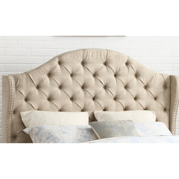 Wydmire Button Tufted Linen Upholstered Wingback Headboard by Darby Home Co