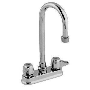 Just Manufacturing Double Handle Bar Faucet