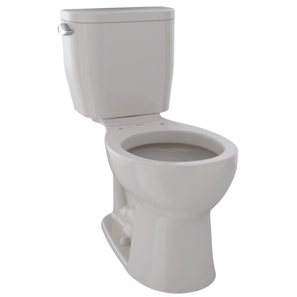 Entrada® Dual Flush Round Two-Piece Toilet by Toto