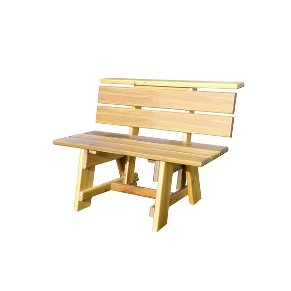 Offutt Signature Wooden Garden Bench by Loon Peak