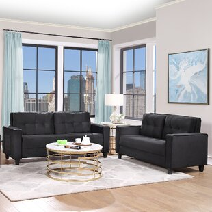 Sofa Set Morden Style Couch Furniture Upholstered Armchair, Loveseat And Three Seat For Home Or Office (2+3 Seat) by Latitude Run®