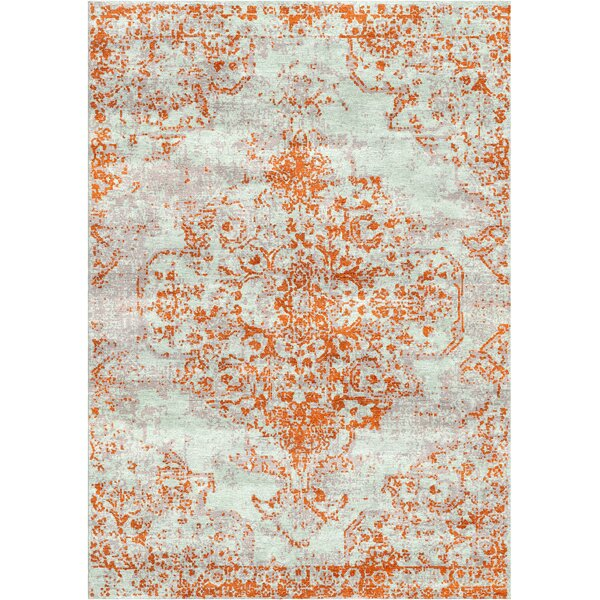 Aliza Handloom Rust Area Rug by Bungalow Rose