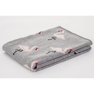 Check Prices Pittman Flamingo Baby Blanket ByHarriet Bee
