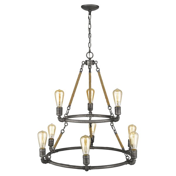 Thorsby 9-Light Unique / Statement Tiered Chandelier by Williston Forge Williston Forge